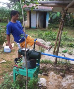 Electric pump installed at Lapaz elementary School