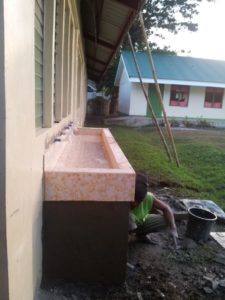 Handwashing Facility constructed at Quevedo Elementary School